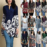 Women Vintage Tunic Tops Casual Loose Tops Blouse Shirt Pullover T-Shirt Plus US