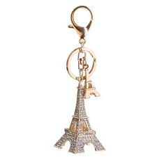 Eiffel Tower Pendent Keyring Crystal Bag Charm Pendant Key Chain Ring Gifts