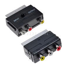 20 Pins Scart To 3 RCA F Audio Adapter Converter+ 3 RCA AV Adapter Converter