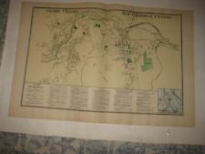 Antique 1870 Southbridge Globe Village Worcester County Massachusetts Map Superb
