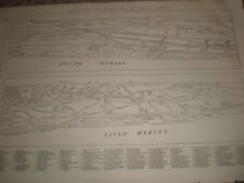 Town and Port of Liverpool map and key 1865 print ref T
