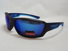 Xloop Sunglasses BLUE & BLACK Black/Blue Tint Lens Unisex Men Shade Sport New