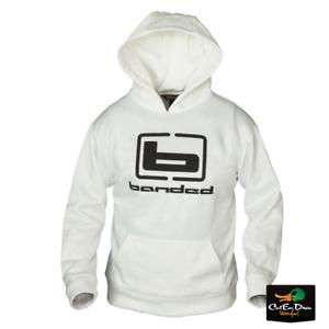 BANDED b LOGO HOODIE HOODED SWEATSHIRT WHITE W/ BLACK LOGO B1050004