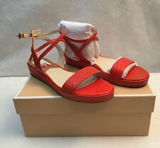 Michael Kors Kaylee Flat Sandal Ankle Gladiator Mandarin Snake Print 6.5 M