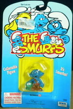 Smurfs Nat Smurfling 20403 Smurf Farmer Vintage Figurine PVC Applause Toy Figure
