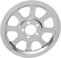 Drag Specialties Chrome Outer Rear Pulley Insert 1201-0518