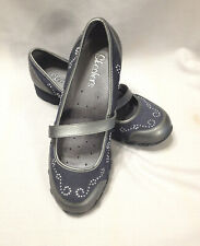 NEW SKECHERS Mary Jane style studded womens shoes sz 8 metalic gray color