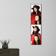 Custom made 29 x 116 cm canvas wall picture with your 4 photos.