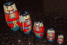 Soldier Nutcracker Russian Nesting Dolls
