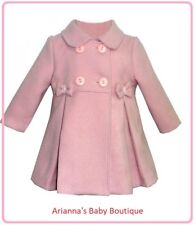 SALE Spanish Traditional wool Coat BOW Pink or RED 6 month upto 4 years