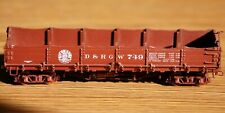 D&RGW Drop Bottom Gondola #749 Brass Empire Midland Painted HOn3