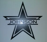 """Dallas Cowboys Customized """"Your Name"""" Vinyl Personalized Decal Window Bumper"""