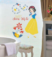 Disney Snow White Princess Childrens Wall Art Sticker Kids Room Decal D3007