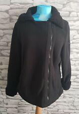 Regatta Great Outdoors black side Zip Up Fleece Jacket 14 uk sherpa collar cuffs