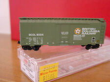 MTL 21230 BRITISH COLUMBIA RY 40' Plug Door Box Car 'FLOWER' #8004 'NEW' N-SCALE