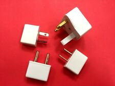 Assorted Round/Flat Pin Travel Adapter Plug Charger Converter 110/120V White