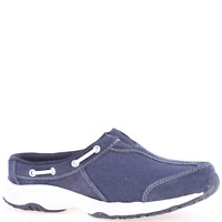 Women's Easy Spirit TRAVEL KNOT Navy Athletic(Wide)Slip-On Walking Shoes