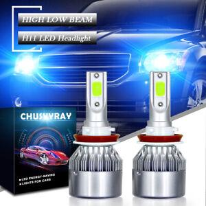 8000K 100W H11 LED Headlight High Low Bulb Foglight H8/H9 20000LM BLUE Headlamp