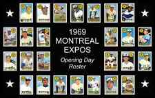 1969 Montreal Expos Opening Day Baseball Card Poster 17x11 Unique Decor Art Vtg