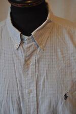Ralph Lauren blue check short sleeve shirt size large mod casual