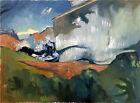 "Ocean Landscape Oil Painting, 18""x24"" Original Signed Art"