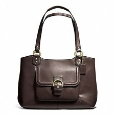 COACH F24961 Campbell Belle Mahogany Leather Carryall Bag NWT $418 msrp