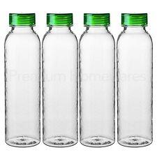 4 x ikea behallare large col en plastique transparent eau/smoothie/jus de bouteilles 0.6L