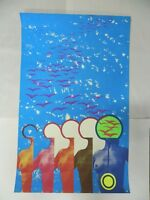 Vintage Artist Signed And Numbered Retro Modern Outsider Art Poster (A15)