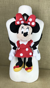 """Minnie Mouse Mickey's Pals Child Toddler Plush Doll 12"""" Backpack Handbag Purse"""