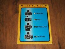 Hasselblad camera range sales brochure,catalogue - 1977;500C/M,SWC,500EL/M....