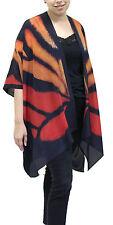 Monarch  Silk Long Kimono Jacket Oversized One Size Plus  NWT