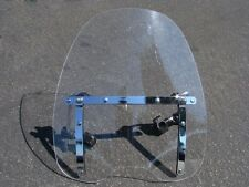 "Clear Motorcycle Windshield Windscreen For Yamaha Cruisers w/ Hardware 18"" x 16"""