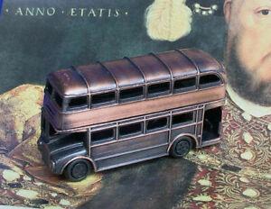 London Double Decker Bus Pencil Sharpener - Bronze Color Metal - Souvenir