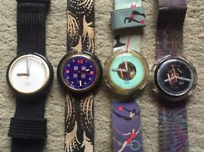 4x + + POP SWATCH + + orologi 1990's - Orologio la raccolta-vintage clock SWISS MADE lot