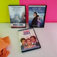 LOT SET of 3 Hugh Grant DVDs About a boy Two Weeks Notice Bridget Jones dvd