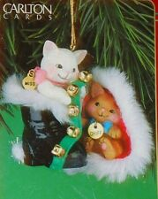 Carlton Cards MERRY MISCHIEF MAKERS Christmas Ornament 2001 Kittens Cat #6 w/box