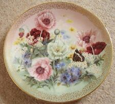 Collectable Lena Liu Bradford exchange by George porcelain plate,Poppy