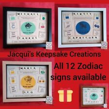 SIGNS of the ZODIAC Personalised BIRTHDAY Gift Frame Picture Keepsake