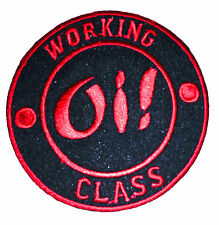 Working Class Oi Punk Rockabilly iron on embroidered patch applique - 107
