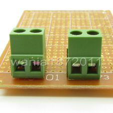 "10 × PCB Screw Terminal Block 2 Pole 0.2"" 5mm Pin Pitch for 24-12AWG 2 Way 10A"