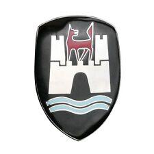 VW Bug Wolfsburg Hood Crest, Black