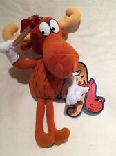 """Bullwinkle J. Moose Rocky & Bullwinkle 9"""" Plush Stuffed Cvs 2000"""
