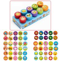 10pcs Self-ink Rubber Stamps Kids Party Event Supplies Birthday Gift Toy Boy NEW