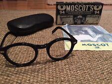 MOSCOT MILTZEN Black Frame 46 BICCHIERI RP £ 220 VINTAGE Crossley Lemtosh rare retro