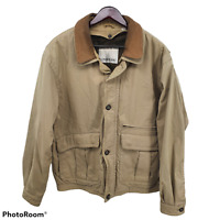 London Fog  Mens Brown Heavy Jacket Zip Out Removable Lining Size Large