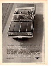 1964 Chevrolet Chevelle Malibu Super Sport 283/220 Hp ~ Original Print Ad