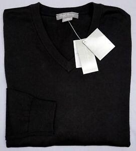 NWT $75 Cremieux Signature Long Sleeve %100 Supima Cotton Black Sweater Mens NEW