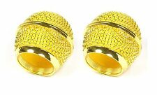2x Gold color Mesh Microphone Grille Fits Shure BETA 58 SM58 Microphone