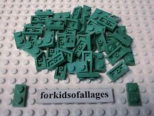50 Lego Sand Green 1x2 Plates Part #3023 Statue Of Liberty Architecture Color
