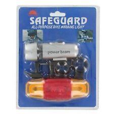 Luce Bici Frontale Torcia 5 Led Safeguard Riflettente Posteriore Sicurezza hsb